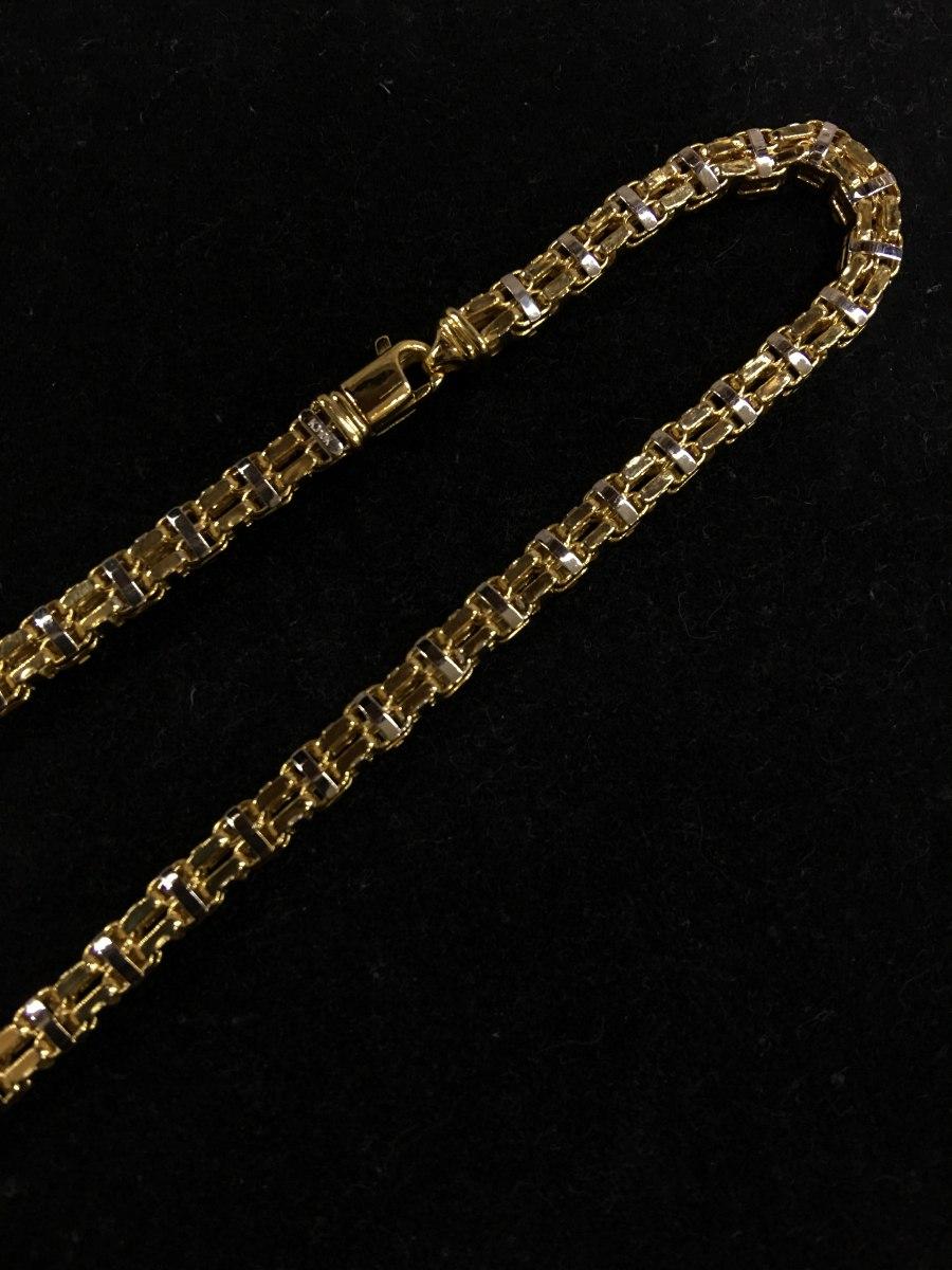 f20216ebe334 Cadena Oro Blanco Y Amarillo 10k Italiano 60cm