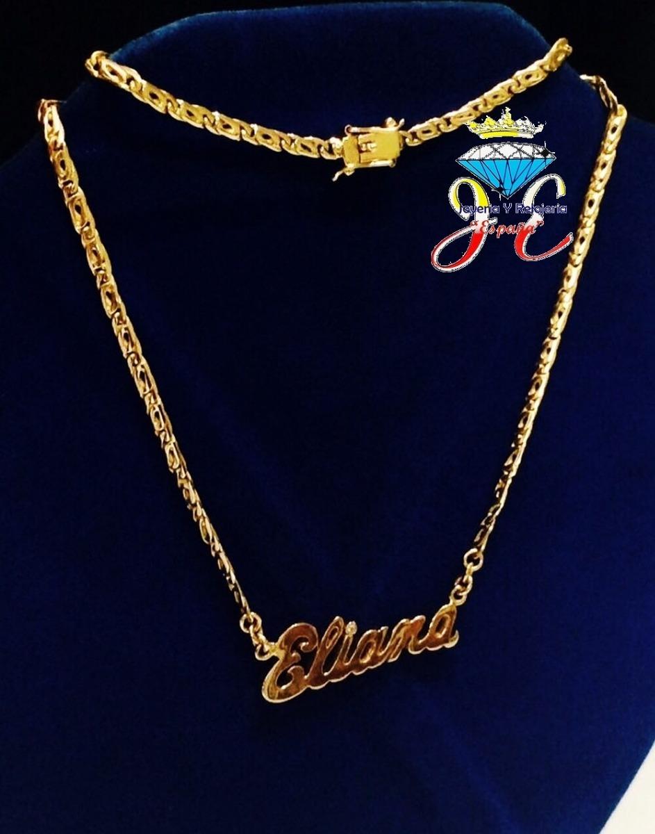 6d02b697bc79 cadena oro ley 18k collar mónaco nombre mujer cd 17 jespaña. Cargando zoom.