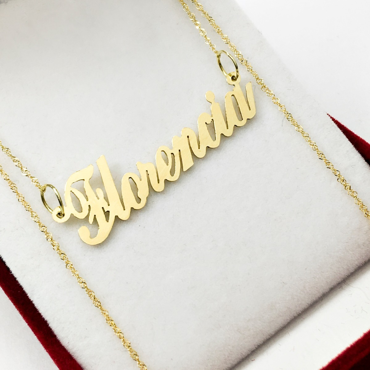 05c84b5b282c Cadena Oro Singapur 45 Cm Con Tu Nombre Oro 18 K Mujer 15 -   6.280 ...