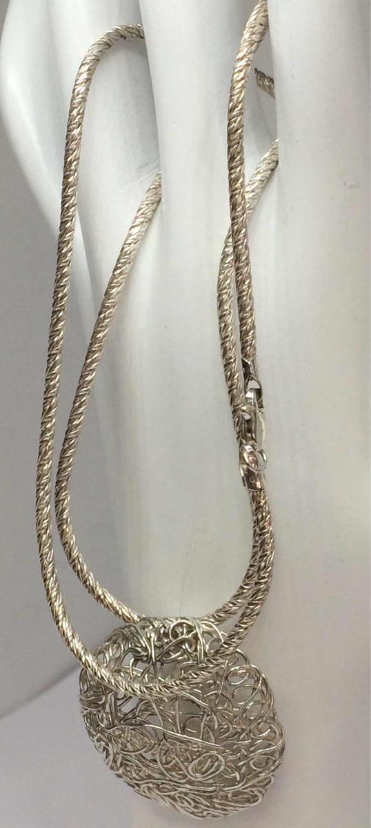 be7443c0c4ed cadena para dama con dije diseño tejidos en plata ley 925. Cargando zoom.