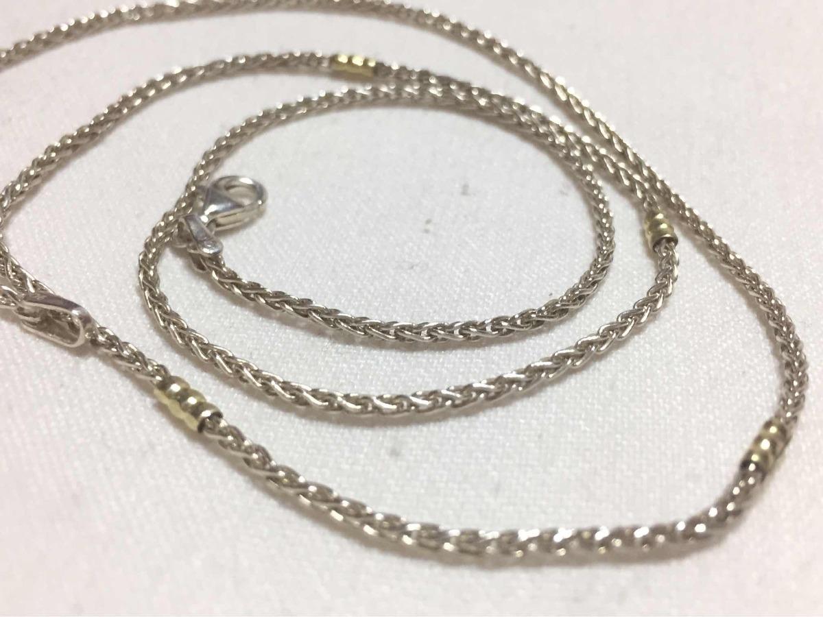 1c1415762467 cadena para hombre de plata y oro 60cm día del padre. Cargando zoom.