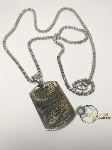 cadena para hombre estilo militar