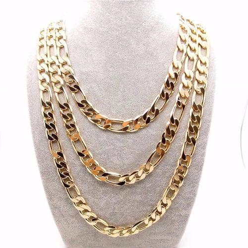 cadena para hombre oro 18k laminado 70cm largo rap hiphop
