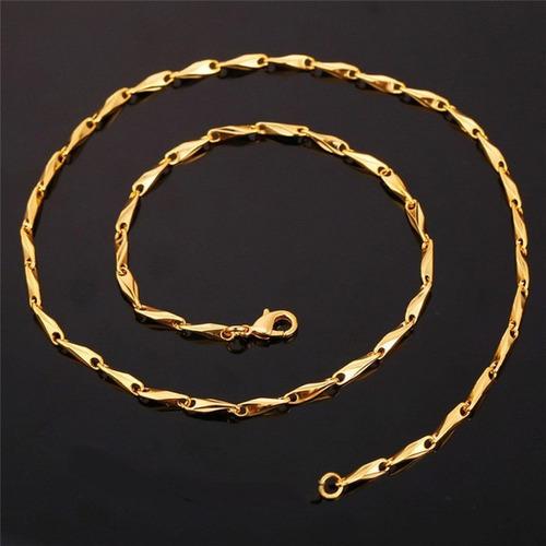 cadena para hombres en acero color oro 14k color plata