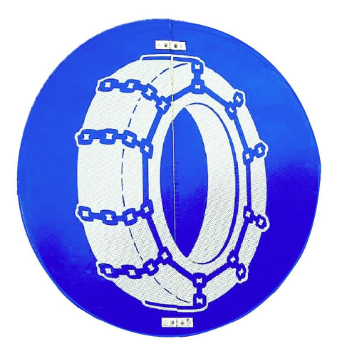 cadena para llanta rin 17,5/7mm nhr para lluvia y barro