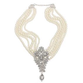 684986ac468f Collar Perlas Vize Cristal - Joyería Collares y Cadenas en Mercado ...