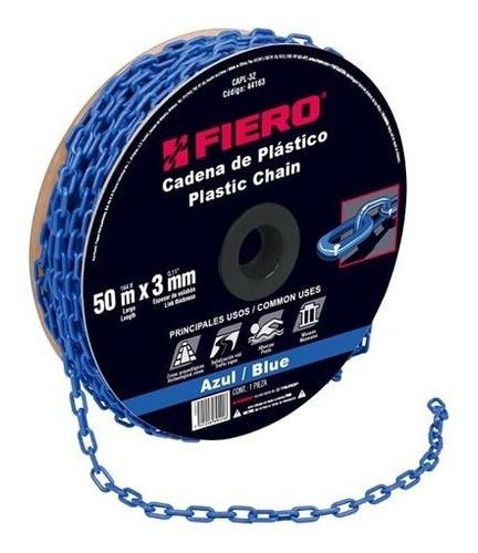 cadena plastica 3 mm x 50 mt azul fiero 44163