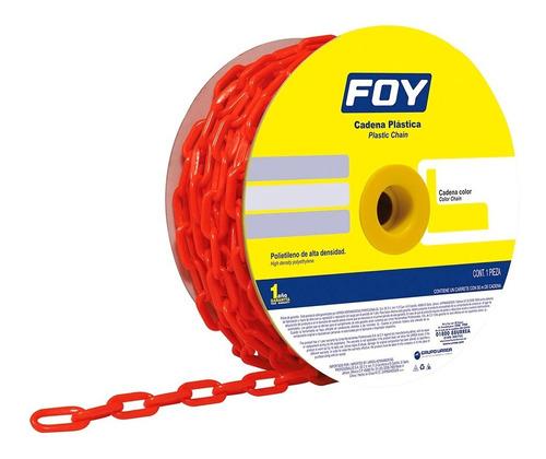 cadena plástica 3mm 1/8  50m color rojo 143433 foy