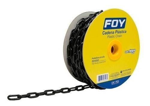 cadena plástica 6 mm x 1/4  25 mt 40 kg negra foy 143423