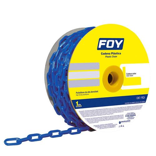cadena plástica 8mm 5/16  5m color azul 143428 foy
