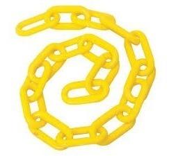 cadena plastica amarilla c/50 mts 6mm