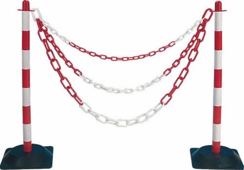 cadena plastica medida de conos