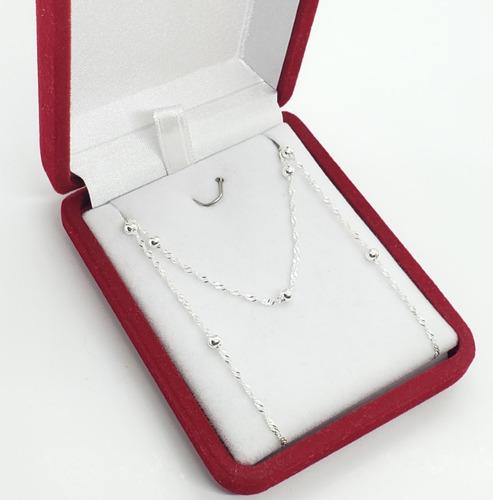 cadena plata 925 - bolitas de 3 mm - 50 cms - ho13-15d