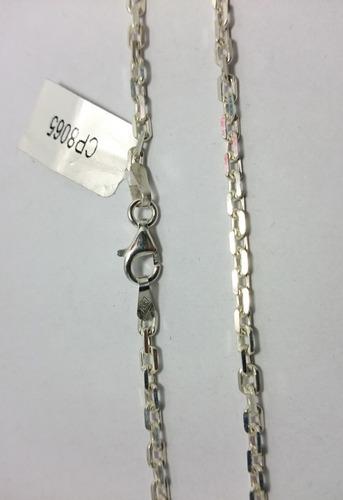 cadena plata 925 forcet maciza  hombre 3mm 60cm garantia