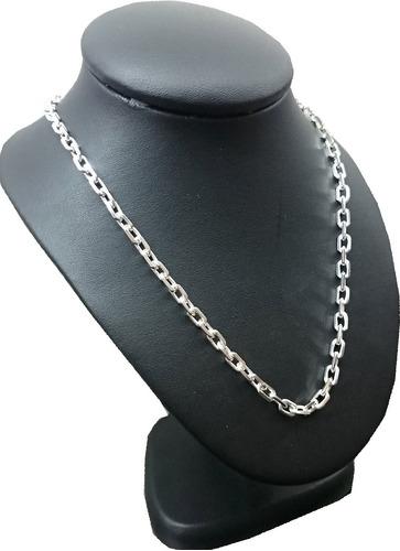 cadena plata 925 forcet maciza hombre 4mm 60cm garantia