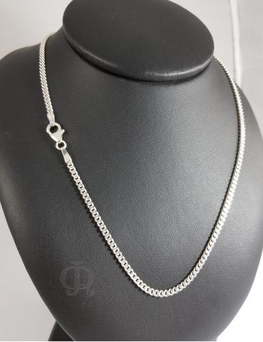 cadena plata 925 groumet 3mm 60cm hombre maciza garantia