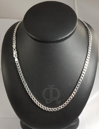 cadena plata 925 groumet 4mm 70cm gruesa maciza hombre