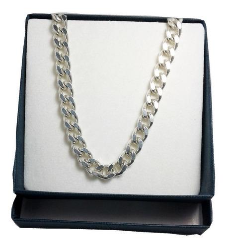 cadena plata 925 groumet 7mm 60cm maciza hombre garantia
