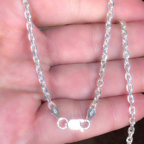 cadena plata 925 maciza eslabón forzet 1 largo 45 ó 50 cm