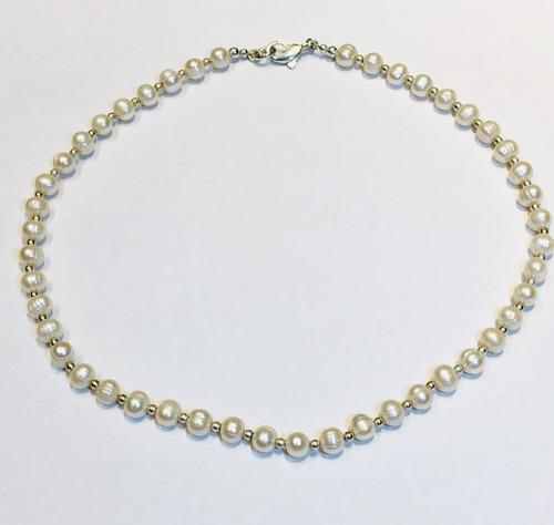 cadena plata 925 perlas cultivadas de rio capl172 garantía
