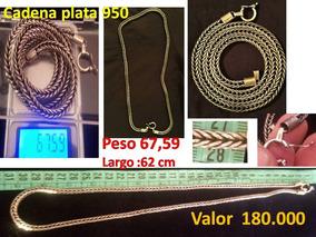 241a4fc42838 Cadena De Plata 950 Concepcion - Joyería en Mercado Libre Chile