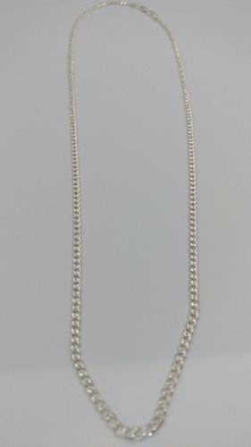 cadena plata brillante fina .925 60cm x 3mm unisex hombre