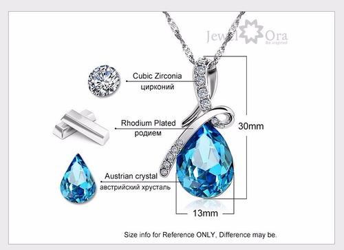 cadena plata collar cristal