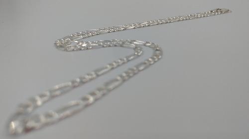 cadena plata fina 925 3*1 hombre mujer unisex 70cm x 4mm