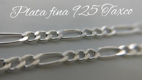 cadena plata fina 925 3*1 para mujer hombre unisex 55cm