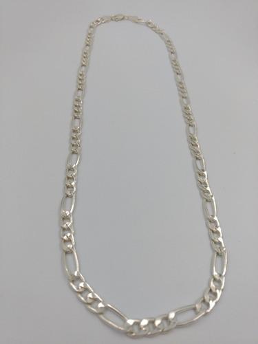 cadena plata fina 925 caballero 3*1 gruesa hombre 55cm