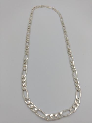 cadena plata fina 925 caballero 3*1 gruesa hombre 60cm