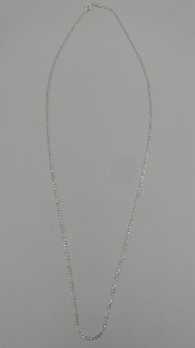 cadena plata fina 925 dama 3*1 mujer hombre unisex 65cm