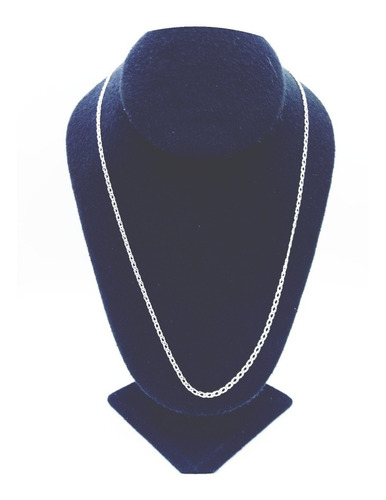 cadena plata fina 925 tejido doble unisex hombre mujer 55cm