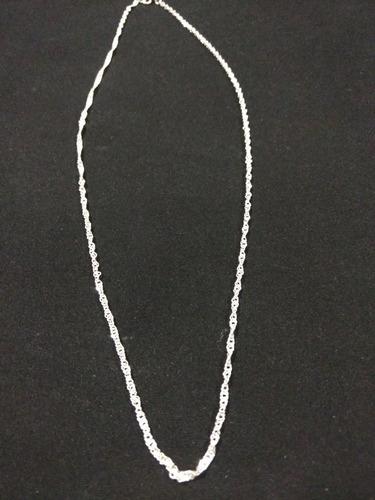 cadena plata fina 925 torzal torsal hombre mujer unisex 70cm
