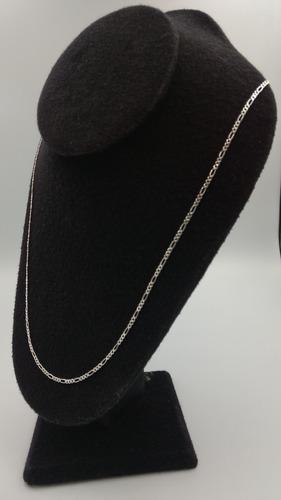 cadena plata fina dama 925 tejido 3*1 taxco para mujer 50cm