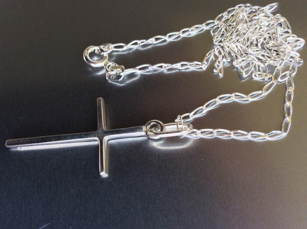 7b982d6feb5b cadena plata ley solida + dije de cruz esbelta plata ley 925. Cargando zoom.