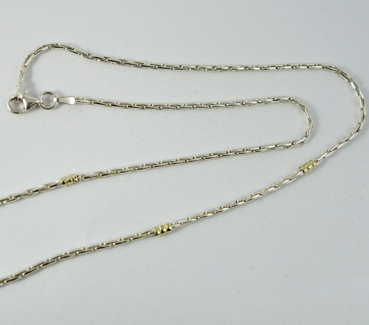 4c50d0872a09 cadena plata y oro cordon maciza 1mm garantia jr. Cargando zoom.