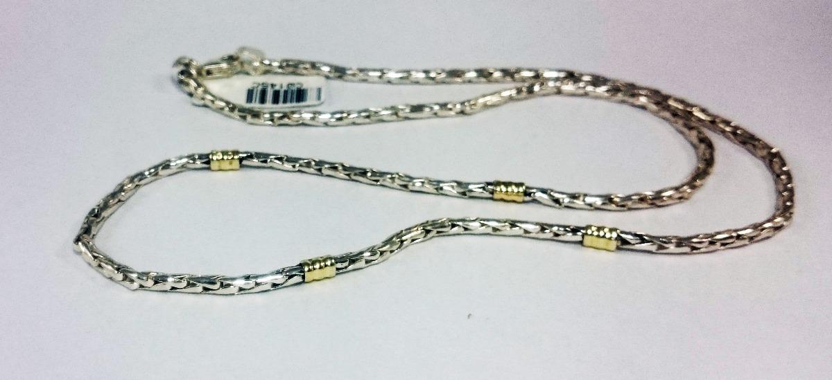 48047bac0a0d cadena plata y oro cordon maciza 3mm 45-50cm garantia jr. Cargando zoom.