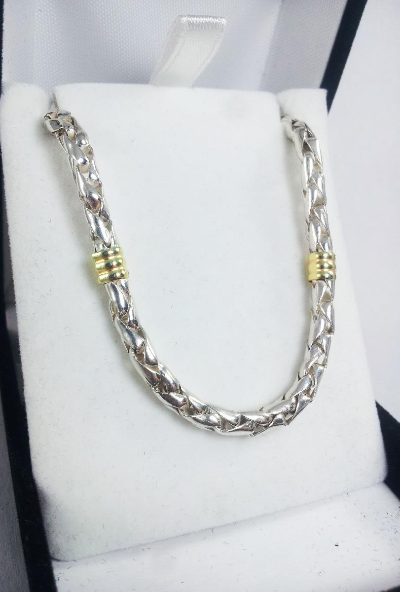 0a2f845e3d99 cadena plata y oro cordon maciza 4mm 45 cm garantia jr. Cargando zoom.