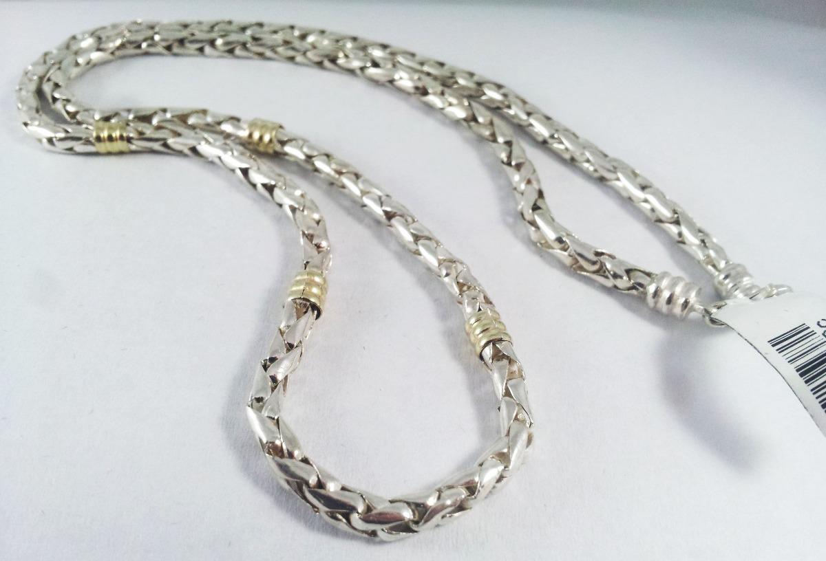 b19edde8ece8 cadena plata y oro cordon maciza 5mm garantia jr. Cargando zoom.