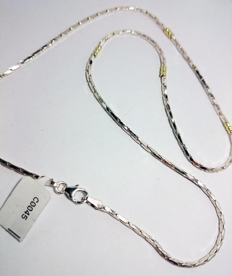 99413e041e00 cadena plata y oro maciza 45cm garantia jr. Cargando zoom.
