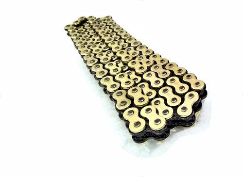 cadena reforzada dorada 520h x 132 cadena 520 reforzada