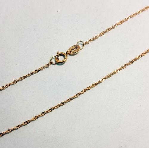 cadena singapur 45cm y medalla virgen niña oro 18k garantia