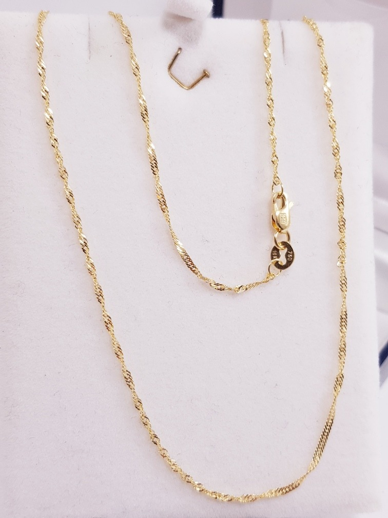 54fc8069b5ff cadena singapur oro 18k hermosa 1.8 gramos cierre mosqueton. Cargando zoom.