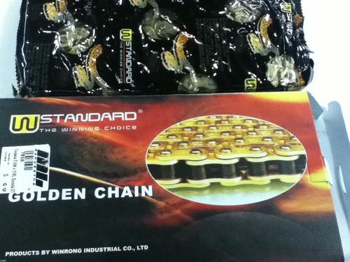 cadena standart dorada rango h 428-134 la mejor opcion