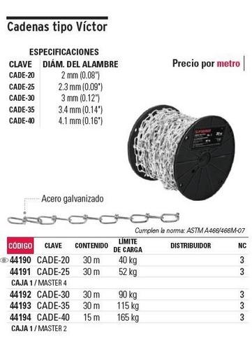 cadena t. victor 2.3 mm x 30 mt fiero 44191