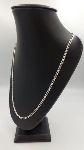 cadena tejido doble para niña niño de plata fina ley 925 3mm