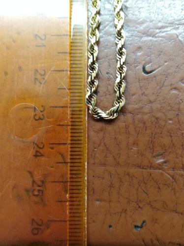 cadena tejido lazo en oro de 14kt peso 14.4 gramos