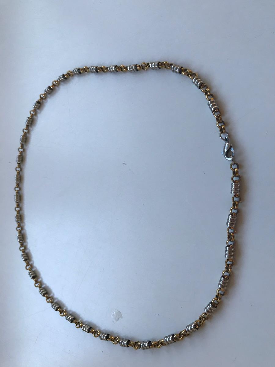 d83b01c4f77d cadena tipo collar de acero para dama. Cargando zoom.