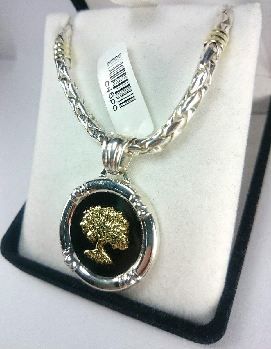 e5d0a5367425 cadena y arbol de la vida plata y oro cordon maciza. Cargando zoom.